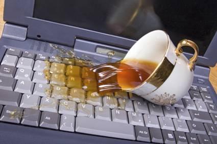 залитие ноутбука, ремонт залития ноутбука